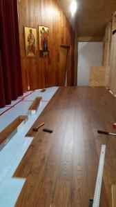 Реконструкция пола в алтаре.
